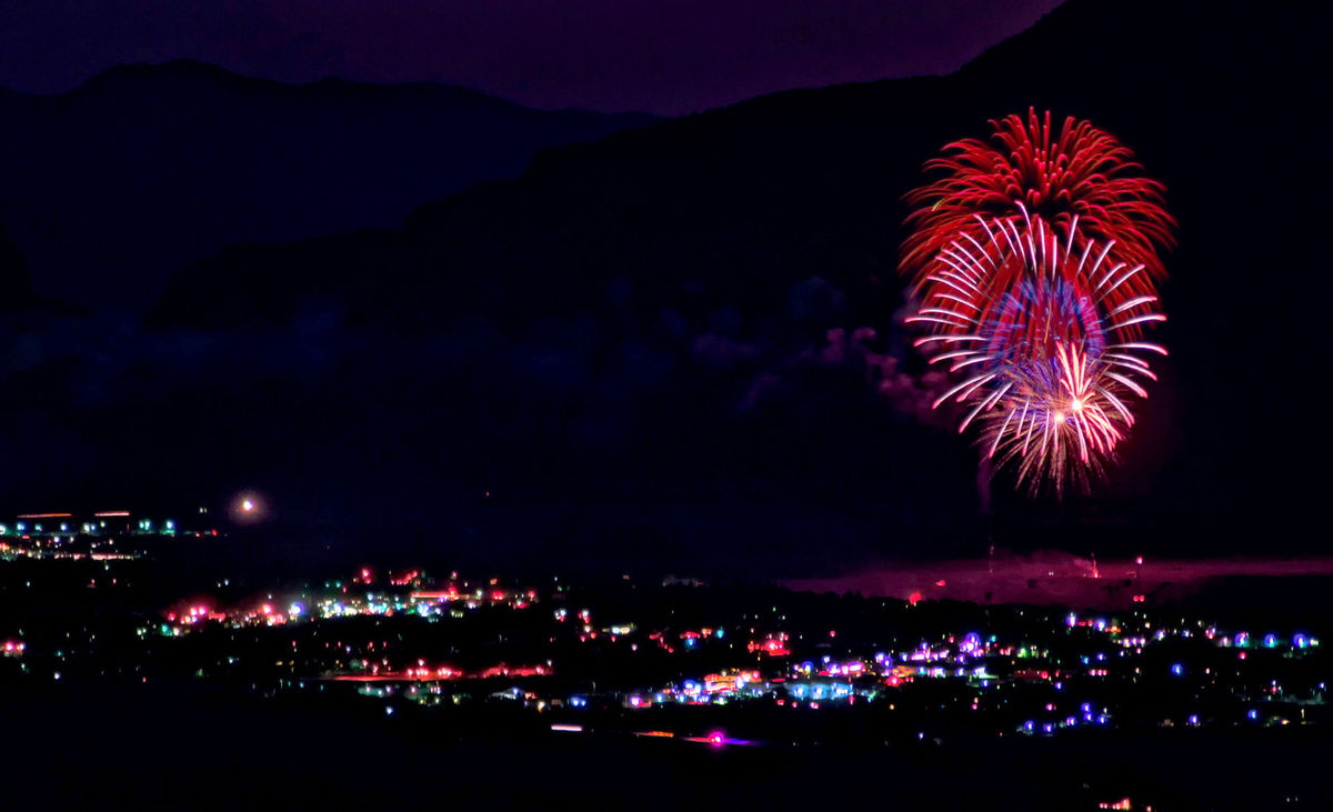 Fireworks in Cody Wyoming.